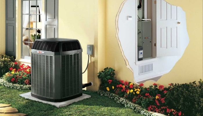 ac system outside house